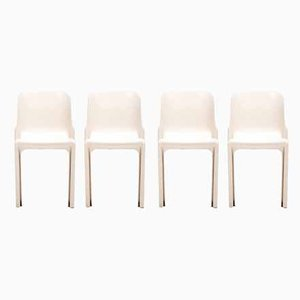 Selene Stacking Side Chairs by Vico Magistretti for Artemide, 1960s, Set of 4