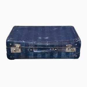 Blauer Vintage Koffer 1950er