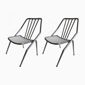 Italienische Gartenstühle mit Gestell aus Aluminium von Industrie Conti Cornuda, 1940er, 2er Set
