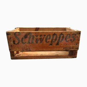 Caja de madera de Schweppes, 1964