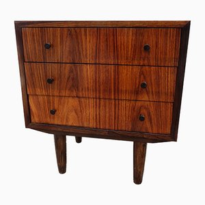 Danish Rosewood Night Stand, 1950s