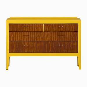Commode Mid-Century Jaune