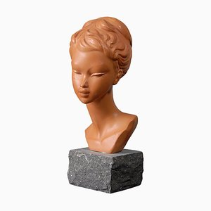 Italian Bust Sculpture by Salvatore Melani, 1960s