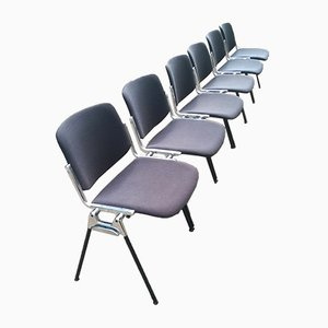 Model DSC106 Desk Chairs by Giancarlo Piretti for Castelli/Anonima Castelli, 2000s, Set of 6