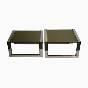 Vintage Brass and Chrome Nesting Tables, 1970s