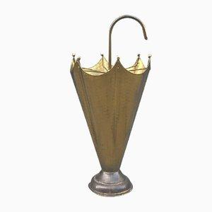 Italian Brass Umbrella Stand, 1950s