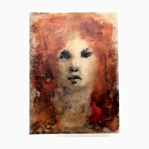 Litografía con pelo rojo de Leonor Fini, 1964