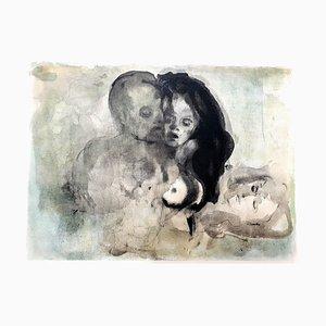 Lovers Lithografie von Leonor Fini, 1964