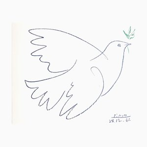 Peace Dove Lithograph by Pablo Picasso, 1961