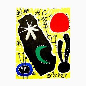 Affiche Pochoir Mars par Joan Miró, 1956