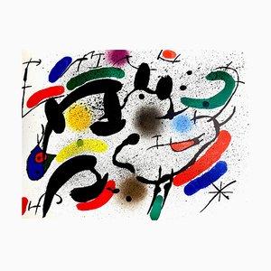 Lithographie Abstraite par Joan Miró, 1981