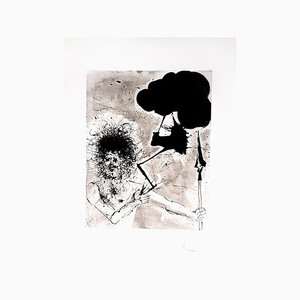 Aguafuerte Zeus de Salvador Dali, 1965