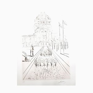 City Hall - San Francisco Etching by Salvador Dali, 1970s