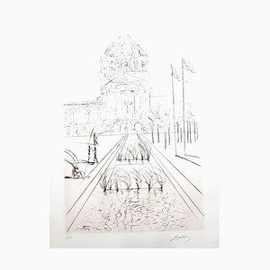 Gravure à l'Eau-Forte City Hall - San Francisco par Salvador Dali, 1970s