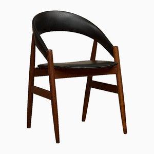 Mid-Century Beistellstuhl aus Teak & Kunstleder, 1960er