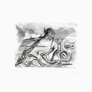 Aguafuerte Surrealista de Jacques Villon, 1946