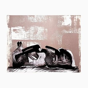 Lithograph by Henry Moore, 1977