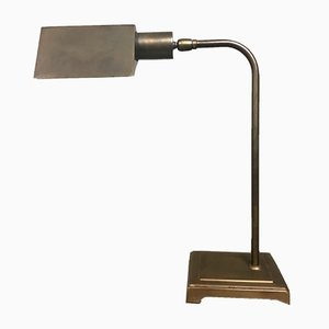 Lámpara de escritorio Bauhaus de latón de Omi, años 70