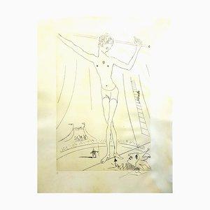 The Circus Parchment Radierung von Salvador Dali, 1965
