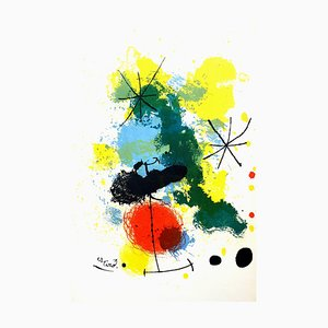 Lithograph by Joan Miró, 1964
