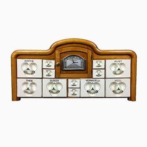 Niederländischer Art Déco Küchenschrank mit Uhr, 1920er
