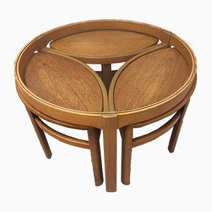 Tavolini ad incastro Mid-Century in teak, anni '70