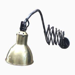 Lámpara de acordeón industrial vintage de AGI, años 30