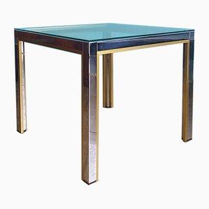 Vintage Italian Chrome Side Table by Renato Zevi for Romeo Rega, 1970s