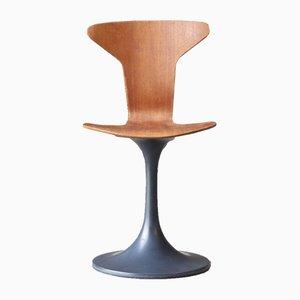 Vintage Beistellstuhl aus Kunststoff & Teak, 1960er