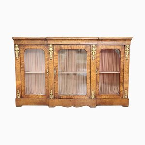 Antique Inlaid Walnut and Gilded Bronze Vitrine, 1880s