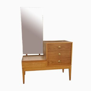 Vintage Teak Veneer Dresser with Mirror from Uniflex, 1960s