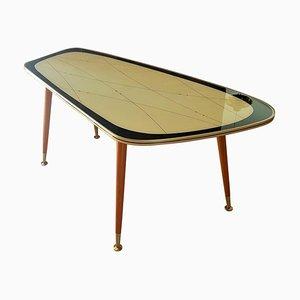 Table Basse avec Plateau en Verre, Allemagne, 1950s
