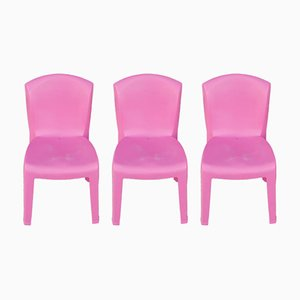 Model Evolutif ABS Stacking Chairs by Gabriele Pezzini, 1990s, Set of 3
