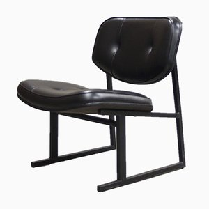Vintage Leatherette Fireside Chair by Pierre Guariche, 1950s