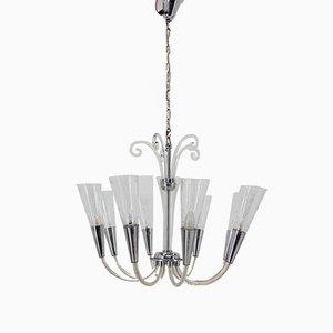 Lámpara de araña Art Déco de vidrio, 1939
