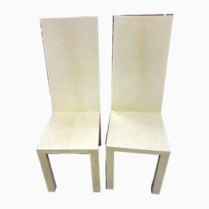Sedie da pranzo in pergamena di Giorgio Armani, inizio XXI secolo, set di 2