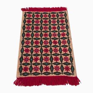 Bulgarian Floral Mat, 1960s
