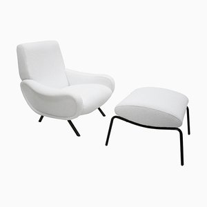 Mid-Century Lady Lounge Chair & Ottoman Set by Marco Zanuso for Arflex
