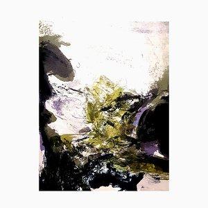 Lithographie Composition Abstraite par Zao Wou-ki, 1971