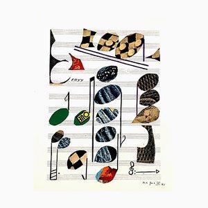 Sorlier Lithografie von Alberto Magnelli, 1971