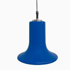 Lámpara de techo azul de Peill & Putzler, años 80