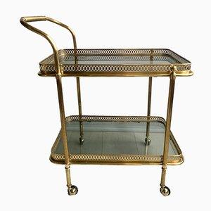 French Brass Bar Cart, 1950s