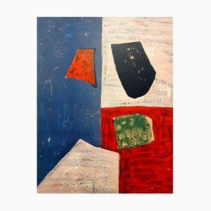Farbenfrohe abstrakte Lithografie von Serge Poliakoff, 1958