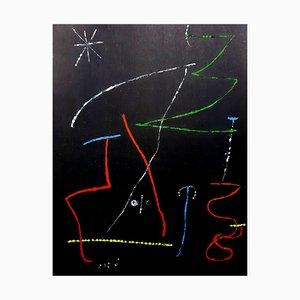 Abstraktes Gemälde von Joan Miro, 1958