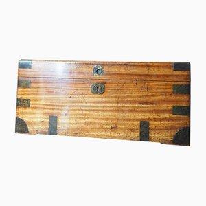Antique Wooden Campaign Chest