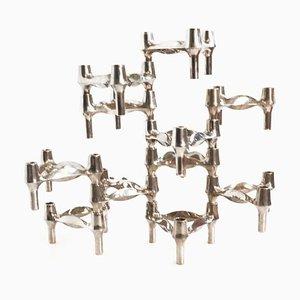 Modulare Kerzenhalter von Fritz Nagel & Ceasar Stoffi für Quist, 1960er, 11er Set