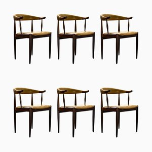 Vintage Rosewood Dining Chairs by Johannes Andersen, 1960s, Set of 6