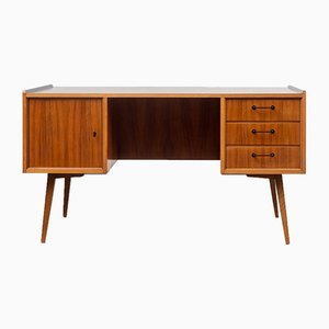 Vintage Walnut Desk, 1950s