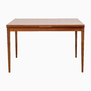 Tavolo da pranzo vintage in legno di noce, anni '60
