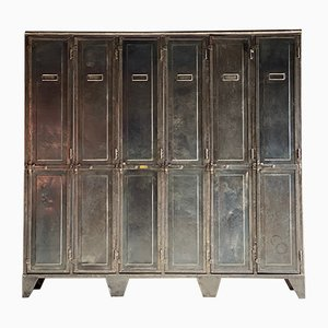 Antique Steel School Locker from Laugel & Renouard